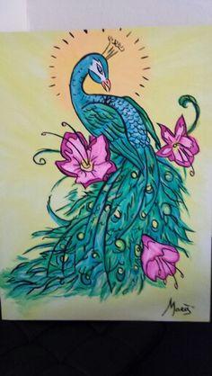 canvas 60x80 peacock