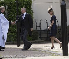 Andrew, The Duke of York arrived with his sister-in-law, Sophie, The Countess of Wessex