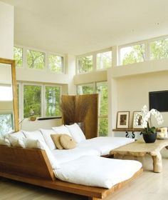 want platform bed constructed like this couch!!!! always loved Donna Karan's furniture....