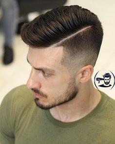 Corte de pelo con raya al lado
