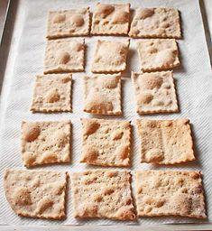 Cómo hacer crackers o galletas de pan con Thermomix