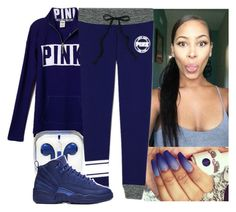 """""""PINK"""" by aribearie ❤ liked on Polyvore featuring NIKE"""