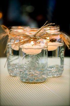 Jam jar candle holders