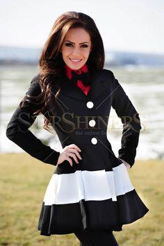 Artista Rising Beauty Black Trechcoat