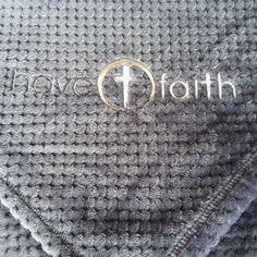 Have Faith Cozy Blanket- Textured