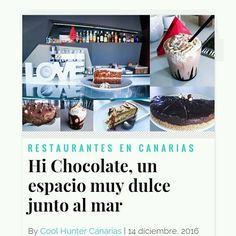 Adrmas de que te lo cuenten ven y visítanos. Gracias #coolhunter @coolhunter  #hichocolate #muelledeportivo #chocolates #tartascaseras #zumosnaturales #ensaladas #laspalmas #lesesperamos