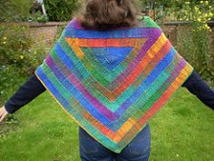 The latest addition to my Ten Stitch patterns, this wide triangular shawl is worked as a narrow strip of garter stitch which is joined on as you go so there is no sewing up. The straight sections are simple yet compulsive knitting and row by row instructions are given for the two types of corner.