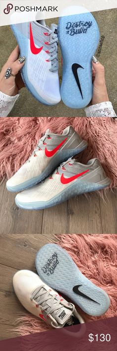 NWT Nike ID Metcon 3 AMP Brand new no box! Price is firm!!5mens-6.5 Women's  The Nike Metcon 3 AMP Women's Training Shoe is ready for your most demanding workouts—from wall exercises and rope climbs to sprinting and lifting.  CUSHIONED FOR TRAINING A drop