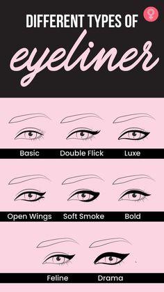 Eyebrow Makeup, Hair Makeup, Eyeshadow Designs, Simple Makeup Tips, Makeup Is Life, Eyeliner Styles, Eyeliner Tutorial, Makeup Techniques, Health And Beauty Tips