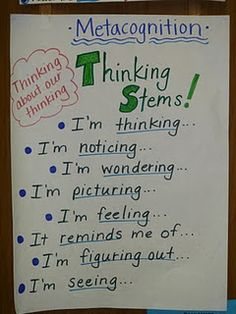 metacognition...teach kids to think out loud
