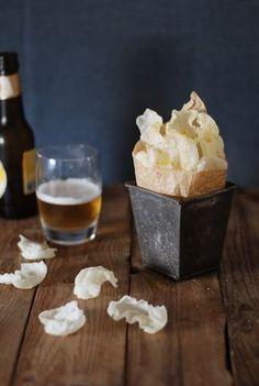 Rice wrapper chips - Chips de papel de arroz {sin gluten} - El bistrot de Carmen
