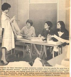 Home Ec was required for all girls.  I learned a lot about sewing and cooking from these classes as well as what I was taught at home by my Mom!