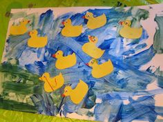 10 Little Rubber Ducks by Eric Carle: Art, Counting, and Number Recognition