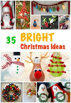 Natural sticky craft ideas for christmas for the whole family to lightbulbs make great decorations at christmas time here are 35 good ways to repurpose those solutioingenieria Gallery