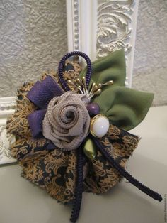 "Buy Brooch ""With purple ! Purple, textile brooch by manuela"