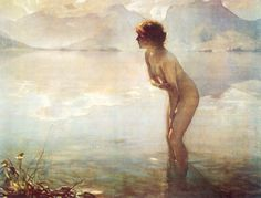 Paul Emile Chabas, September Morn, 1912 #art