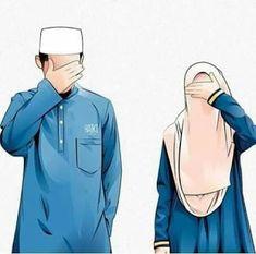 kumpulan kartun romantis parf 2 - my ely Cute Muslim Couples, Muslim Girls, Cute Couples, Muslim Family, Image Couple, Cute Couple Art, Wedding Couple Cartoon, Cute Drawings Of Love, Muslim Pictures