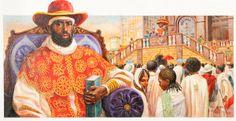 Menelek II King of Kings of Abyssinia (1844-1913) by: Dow Miller (1933-1993)