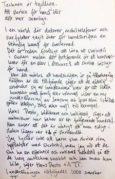 Mörk framtid för handskriften | Nyheter | Aftonbladet