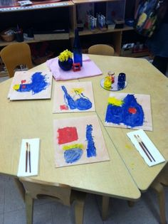 reggio classroom still life art study