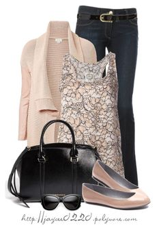"""""""Soft Pink and Black"""" by jaycee0220 ❤ liked on Polyvore featuring Paige Denim, Witchery, PINK MEMORIES, Burberry, Sergio Rossi and Sperry Top-Sider"""