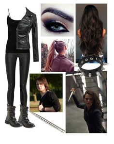 """""""vampire academy - rose style"""" by reincarinatemotionlessveilbrides ❤ liked on Polyvore featuring Acne Studios, Aéropostale, women's clothing, women's fashion, women, female, woman, misses and juniors"""