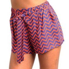 Chevron Tie Shorts $26.00, FREE Shipping! http://www.rmboutique.com/chevron-tie-shorts
