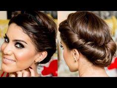 Recogido completo griego. Tutorial. Grecian Updo by Camila Coelho - YouTube Greek hairstyle. Coiffure grecque https://www.facebook.com/bagatelleoficial Bagatelle Marta Esparza . #recogido #griego #peinado