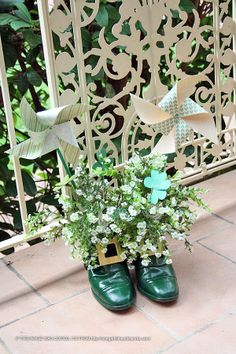 st. patrick's day doors | St Patrick's Day - leprachaun shoes left at the ... | My Saint Pat's ...