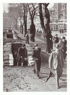 Air-raid shelters situated in East Princes Street Gardens