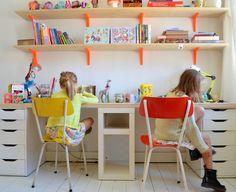 Schreibtisch Kinderzimmer - Wohnen mit Kindern, die Homestory bei Anne aus Brüssel
