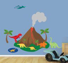 Dinosaurs Wall Decals REUSABLE Wall Decals 628 by StudioWallArt