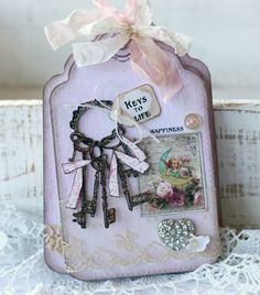 """~ Keys to Life by Paperie Sweetness ~ Visit to check out each of the Lovely Tags and for a Tutorial on how the """"STAMPED KEYS"""" were altered to looks so 3 dimensional."""