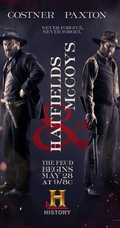 With Kevin Costner, Bill Paxton, Matt Barr, Tom Berenger. Dramatization of the bitter blood feud between the two families on the West Virginia/Kentucky border in the years after the Civil War.