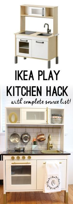Modern Play Kitchen: IKEA DUKTIG Play Kitchen Hack - Full source list and step-by-step