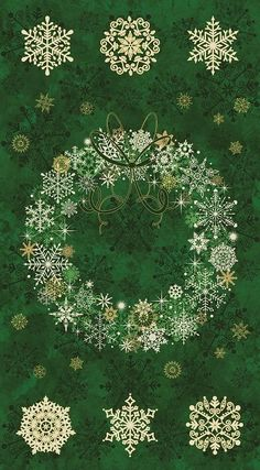 Stonehenge Starry Night 2 Wreath Panel Evergreen