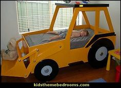theme bed plans Front End Loader Bed Woodworking Plan by Plans4Wood
