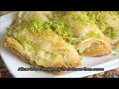 How To Make Baklava Filled With Cream''البقلاوة بالقشطة - YouTube
