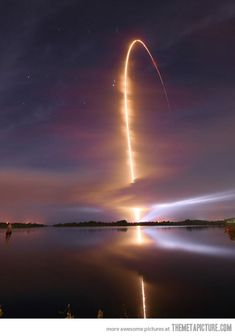 Nighttime Space Shuttle Launch