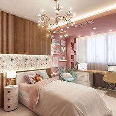 30 Teen Girl Bedroom Decor Ideas - The Wonder Cottage Bedroom Decor For Teen Girls, Teenage Girl Bedrooms, Girl Bedroom Designs, Bedroom Ideas, Teen Bedroom Colors, Small Bedrooms, Girl Room Decor, Blue Bedroom, Home Decor Bedroom
