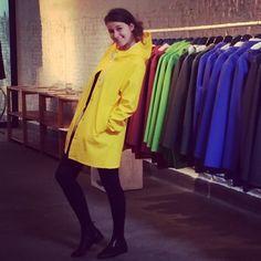 Mai 2014 Yellow Coat, Yellow Raincoat, Girls Wear, Women Wear, Rain Cape, Rainy Day Fashion, Dog Raincoat, Rain Wear, Jackets