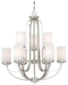 Vaxcel Lighting OX-CHU009 Oxford 9 Light Two Tier Chandelier modern-chandeliers