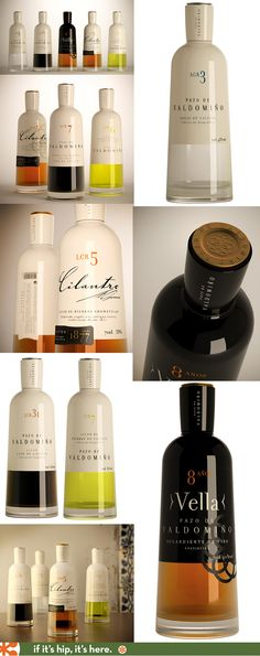 Pazo de Valdomiño's herbed Oils come in absolutely beautiful bottle designs.