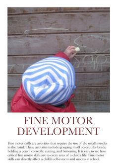 Fine Motor Development Poster. For more Play pins visit: http://pinterest.com/kinderooacademy/learning-through-play/ ≈ ≈