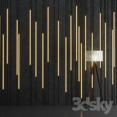 models: Other decorative objects - Wall Stripes 2 Wall Panel Design, Feature Wall Design, Wall Decor Design, Ceiling Design, Door Design, Interior Walls, Interior Lighting, Home Interior Design, Decorative Wall Panels
