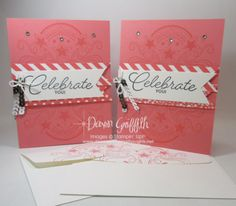 Hi Stampers, Today I thought I would share the cards I made for my Glitter Queens stamping team for those who hit personal goals last month . plus I stamped the envelopes ( so cute) I totally cased