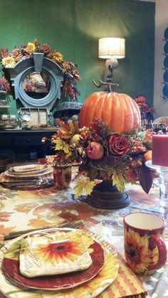 Another table pic of my pumpkin  urn.