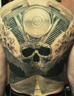 Tattoo Artist - Den Yakovlev | www.worldtattoogallery.com/back_tattoos