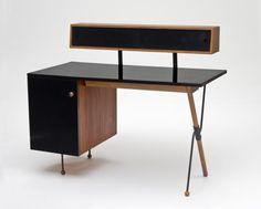 Desk with storage unit. Greta Magnusson Grossman, 1952, at LACMA California Design 1930-1965 exhibit.