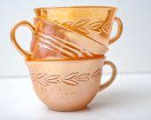 Peach Lustre Teacups... My new favorite!